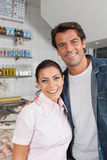 Couple in a fish shop Stock Photography