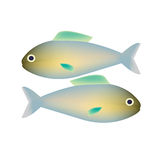 Couple of fishes vector Royalty Free Stock Images