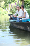 Couple fishing Stock Image