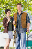 Couple fishing Stock Images