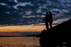 Couple at fishing Stock Photos