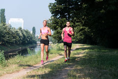 Couple Fitness Jogging Workout Wellness Concept Stock Photo