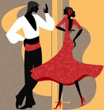 Couple of  flamenco dancer Royalty Free Stock Images
