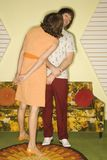 Couple flirting. Stock Photo