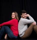 Couple on the floor Stock Photos