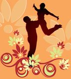 Couple floral vector Stock Photography
