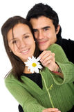 Couple with a flower Stock Photography