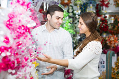 Couple in a flower shop Stock Photos