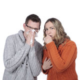 Couple with flu Stock Photography