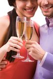Couple with flutes Stock Photography