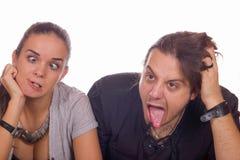Couple fooling around Stock Photo