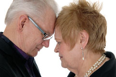 Couple with forehead together. Royalty Free Stock Image