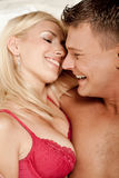 Couple foreplay Royalty Free Stock Image