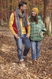 Couple in the forest Stock Photos
