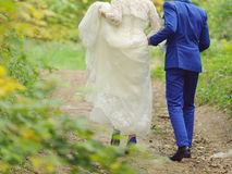 Couple in Forest Royalty Free Stock Photography