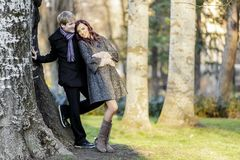 Couple in the forest Royalty Free Stock Images