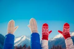 Couple Freedom Winter Stock Photo