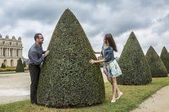 Couple in a French Garden Stock Photos