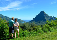 Couple in French Polynesia royalty free stock images