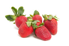 Couple of fresh strawberries Royalty Free Stock Images