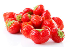 Couple of fresh strawberries in closeup Stock Images