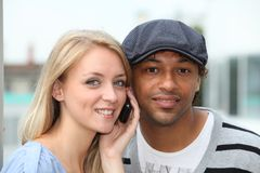 Couple of friends Royalty Free Stock Photo