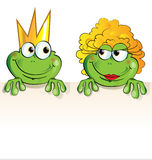 Couple frog cartoon Stock Photo