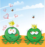 Couple frog in love Royalty Free Stock Images
