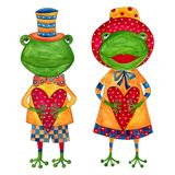 Couple of frogs Stock Photos