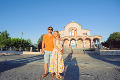Couple in Front of Church Stock Image