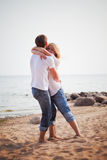 Couple fun on a beach Royalty Free Stock Images