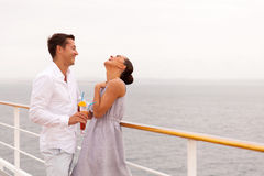 Couple fun cruise royalty free stock photo