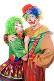 Couple of funny clowns Stock Images