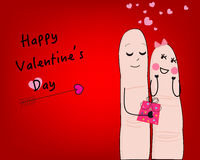 Couple funny valentine day card and Happy Valentine's day greeting card vector Royalty Free Stock Photo