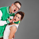 Couple funs Royalty Free Stock Image