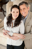 Couple in furniture store. Stock Image