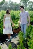 Couple in the garden Stock Photos