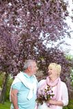 Couple in the garden Royalty Free Stock Photo