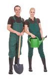 Couple Of Garden Worker Stock Photo