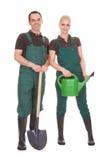 Couple Of Garden Worker Stock Photo