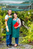 Couple of gardeners Stock Photography