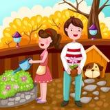 Couple gardening Royalty Free Stock Image