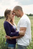 Couple getting close in romance Royalty Free Stock Photo