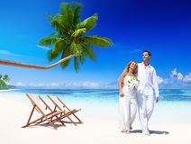 Couple Getting Marriage Beach Vacation Concept Royalty Free Stock Photography
