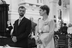 Couple getting married Royalty Free Stock Image
