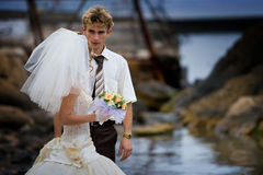 Couple is getting married Stock Image