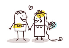 Couple getting married. Cartoon Stock Photography