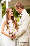 Couple Getting Married Outdoors Royalty Free Stock Image