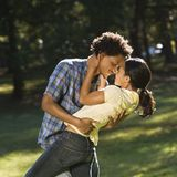 Couple getting romantic. Royalty Free Stock Photography