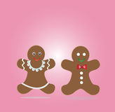 Couple of gingerbread cookies Royalty Free Stock Photography